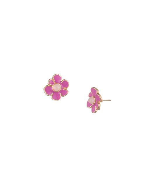 Trina Turk - Pink Super Bloom Flower Stud - Lyst
