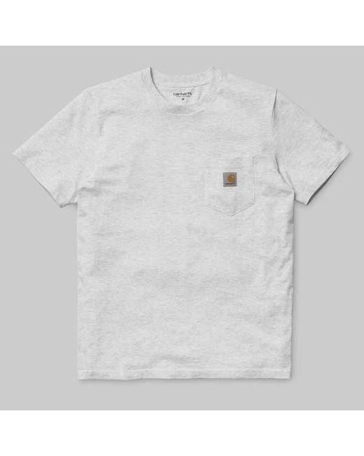 97efa1613057 Carhartt - Gray Ash Heather Short Sleeved Pocket T Shirt for Men - Lyst ...