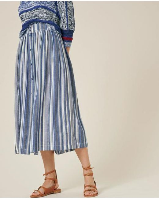 0ae5c637a3 Sessun Stripe Tindaya Skirt in Blue - Lyst