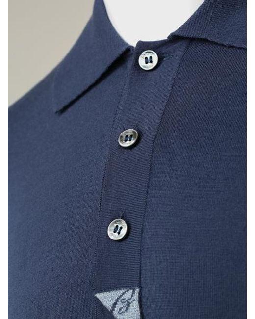 4f52e9578 Brioni - Blue Navy Branded Polo Shirt for Men - Lyst ...