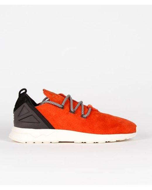 save off 310b9 d2b1a Men's Red 11 Us / 45 1/3 Eu Size Craft Chili Leather Originals Zx Flux Adv  X Shoes