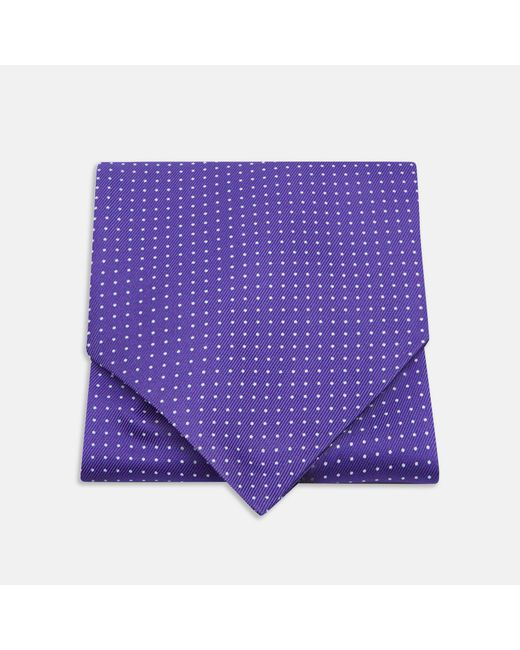 Turnbull & Asser - Purple And White Small Spot Ascot Tie for Men - Lyst