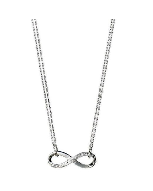 Pilgrim - Metallic Silver Plated Infinity Style Necklace - Lyst