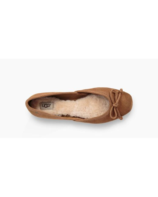 3a9661abcc1f ... Lyst Ugg - Brown Women's Lena Flat ...