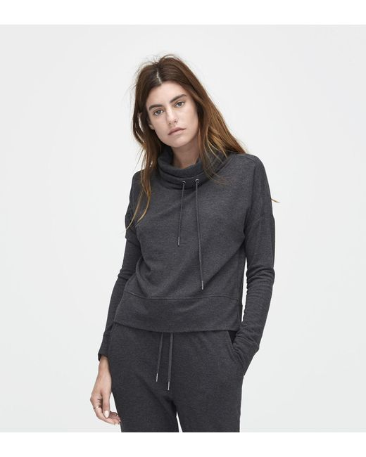 Ugg | Black Women's Cropped Funnel Neck | Lyst