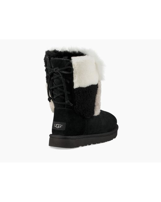 6cc39b68f30 Ugg - Black Classic Short Patchwork Fluff Boot Classic Short Patchwork  Fluff Boot Vita Silk Camisole - Lyst