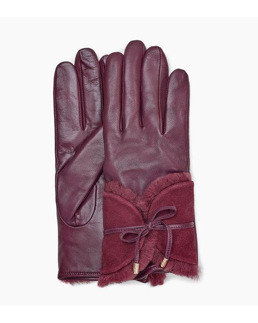 Ugg - Purple Combo Sheepskin Trim Glove Combo Sheepskin Trim Glove - Lyst