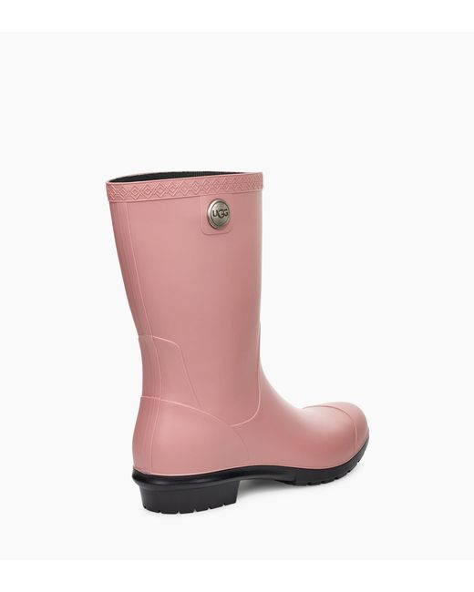 8ce8aa38451d ... Ugg - Pink Sienna Matte Rain Boot Sienna Matte Rain Boot Pom Pom Short  Rainboot Sock ...