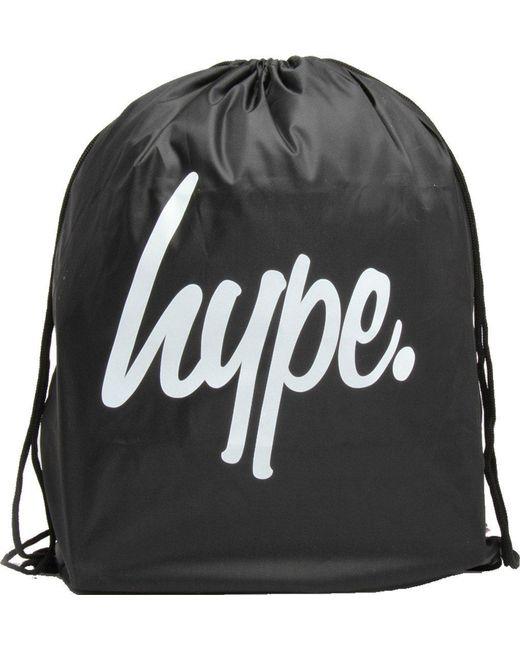 Hype Drawstring Gym Bag in Black - Lyst ed896ed6116fe