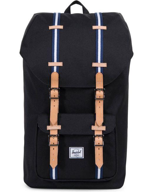 Herschel Supply Co. - Black Little America Offset Backpack Bag - Lyst