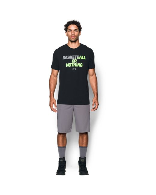 Under Armour - Black Men's Ua Bball Or Nothing T-shirt for Men - Lyst