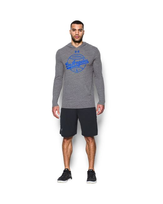 Under Armour | Gray Men's Los Angeles Dodgers Tri-blend Hoodie for Men | Lyst