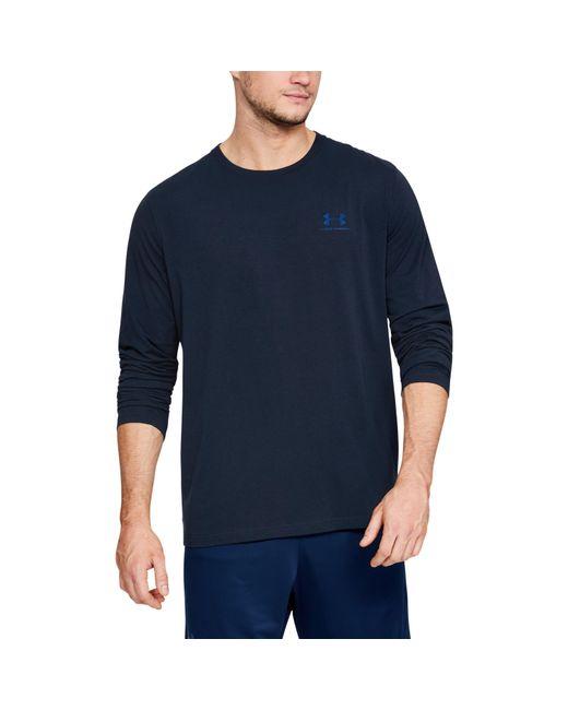 Under Armour - Blue Men's Ua Chest Logo Long Sleeve T-shirt for Men - Lyst