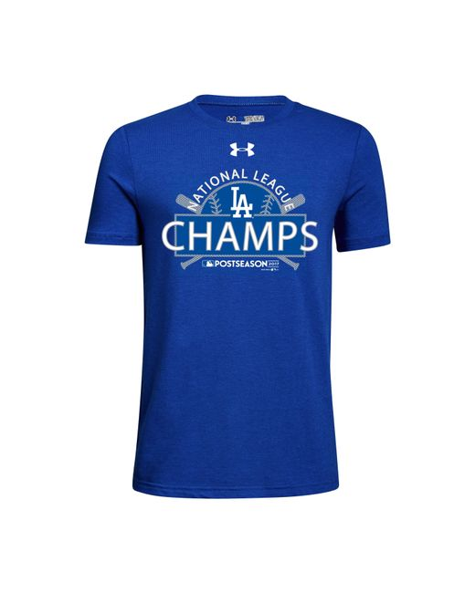 Under Armour | Blue Youth Los Angeles Dodgers League Champs T-shirt *ships 11/2/17* for Men | Lyst