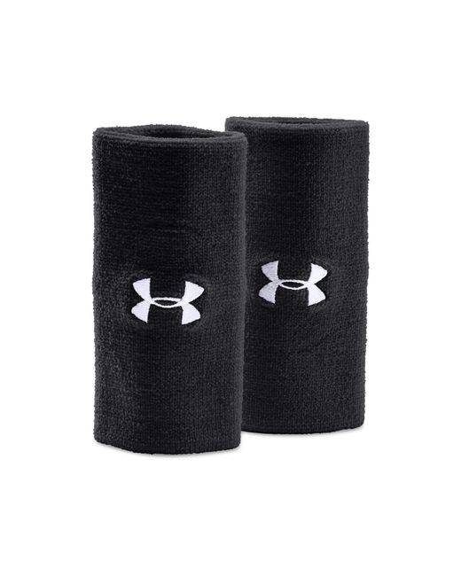 """Under Armour - Black 6"""" Ua Performance Wristband 2-pack for Men - Lyst"""