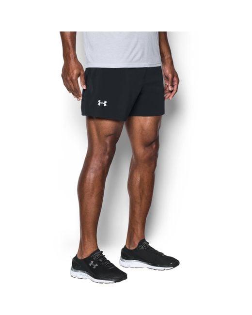 "Under Armour - Black Men's Ua Speedpocket Run 9"" Shorts for Men - Lyst"