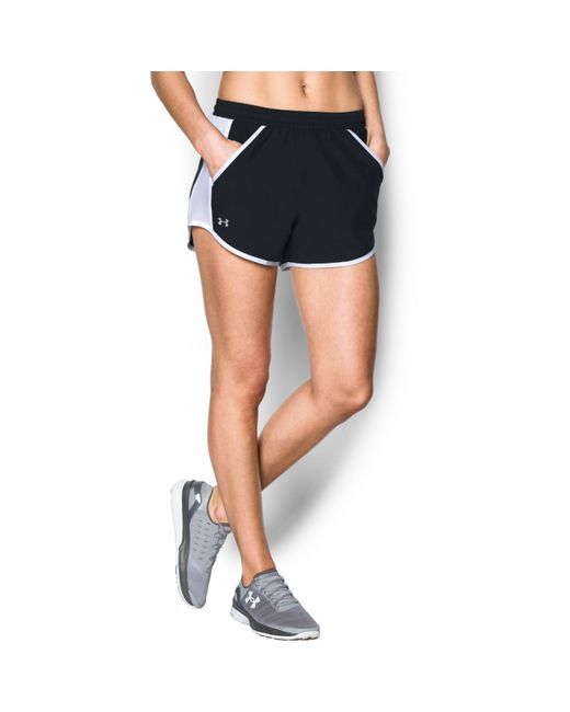 Under Armour - Black Women's Ua Fly-by Shorts - Lyst