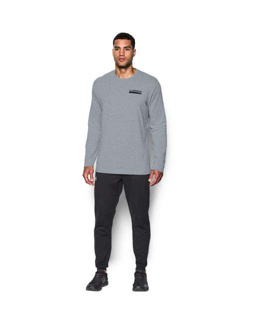 Under Armour | Gray Men's Ua Back Graphic Long Sleeve T-shirt for Men | Lyst