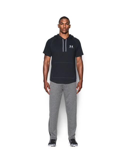 Under Armour | Black Men's Ua Sportstyle Short Sleeve Hoodie for Men | Lyst
