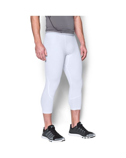 Under Armour | White Men's Heatgear® Coolswitch Armour 3⁄4 Compression Leggings for Men | Lyst