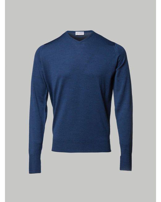 John Smedley - Blue Men's Petworth 30 Gauge Merino Cardigan for Men - Lyst