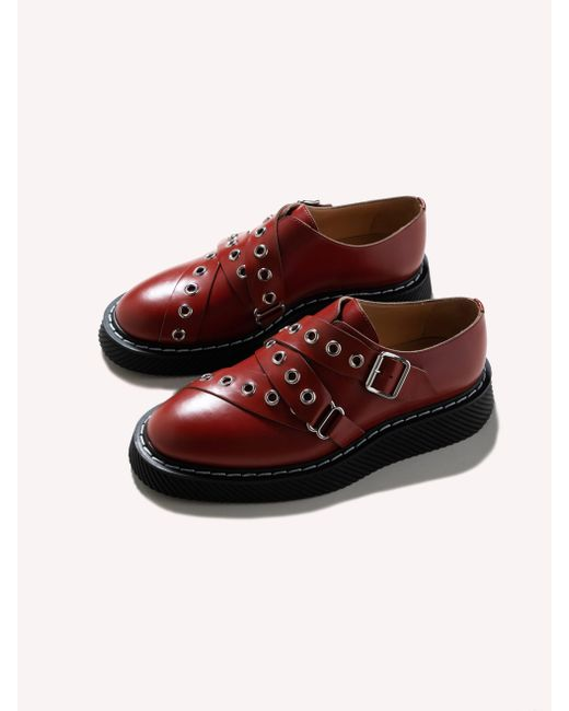 bb1c21f5818 Jil Sander - Red Monk Bordeaux for Men - Lyst ...
