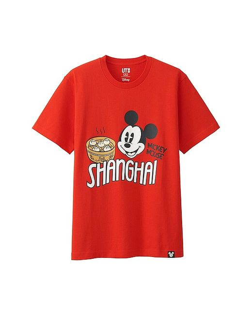Uniqlo Disney Collection City Logo Graphic T Shirt In Red