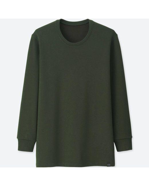 Uniqlo Men Heattech Ultra Warm Long-sleeve T-shirt in Green for ...