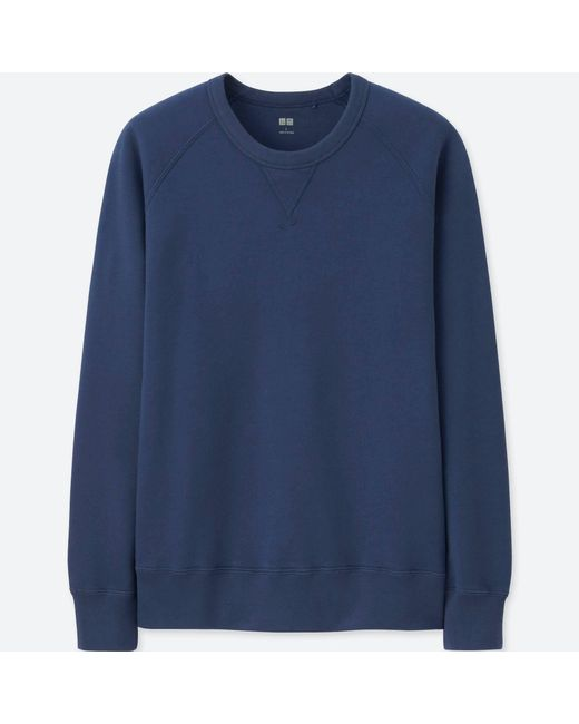 Uniqlo - Blue Long Sleeve Sweatshirt for Men - Lyst