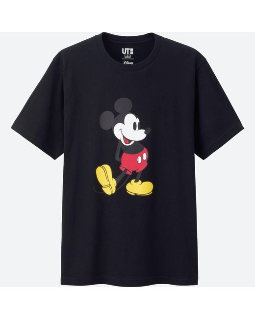 Uniqlo | Black Mickey Stands Short Sleeve Graphic T-shirt for Men | Lyst