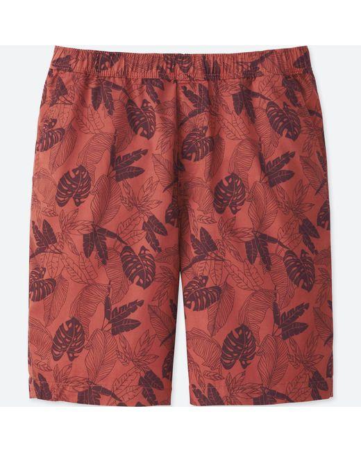 Uniqlo - Red Men Light Cotton Easy Shorts for Men - Lyst
