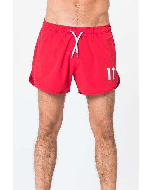 11 Degrees - Red Retro Swim Short for Men - Lyst