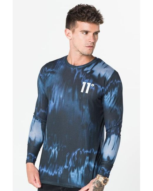 11 Degrees | Blue Sub Long Sleeve T-shirt for Men | Lyst