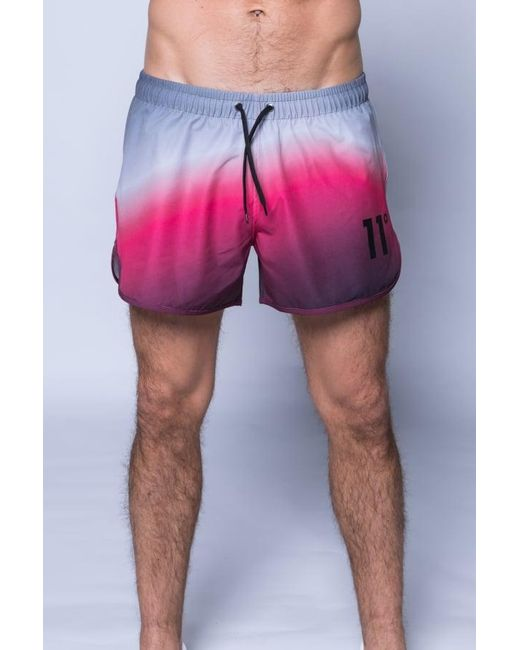 11 Degrees | Pink Printed Retro Swimshort for Men | Lyst