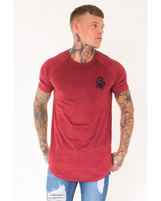 Sinners Attire   Red Suede Tee for Men   Lyst