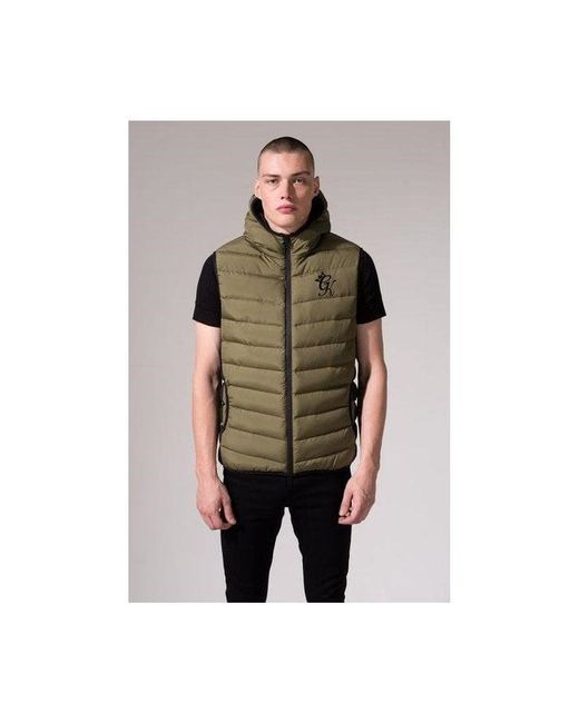 Gym King - Green Core Puffa Gilet for Men - Lyst