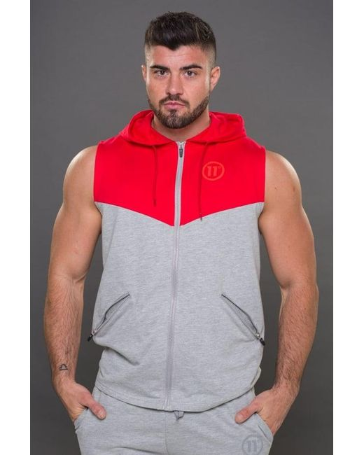 11 Degrees | Multicolor Performance Cut Off Zip Hoodie for Men | Lyst