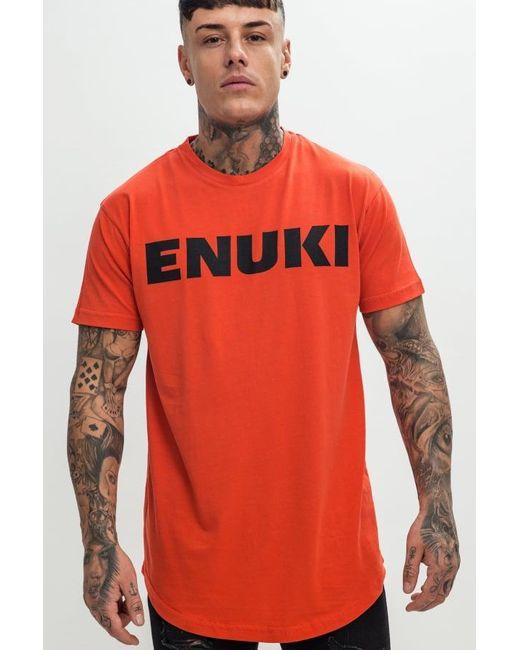 Enuki London - Orange Brand Carrier T-shirt for Men - Lyst