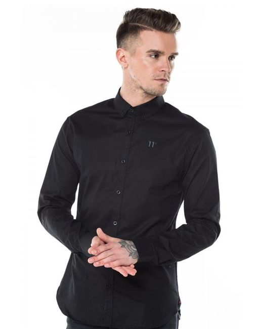 11 Degrees - Black Long Sleeve Shirt for Men - Lyst