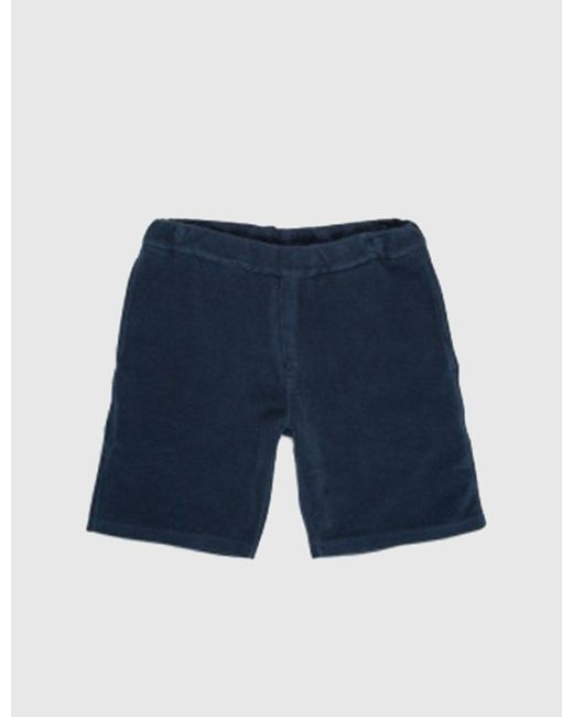 Norse Projects - Blue Jarl Brushed Shorts for Men - Lyst