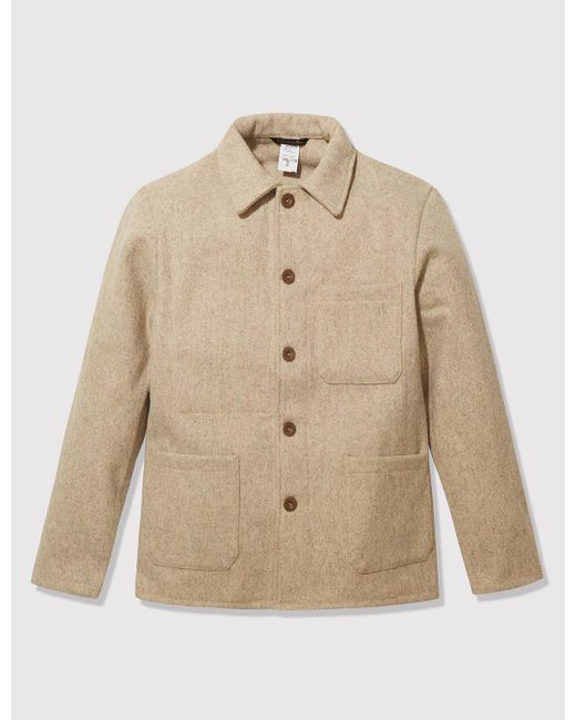 Le Laboureur | Natural Burel Wool Work Jacket for Men | Lyst
