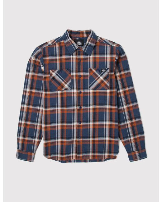 Dickies | Blue Atwood Check Shirt for Men | Lyst