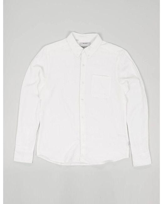 Bellfield - White Connaught Long Sleeve Shirt for Men - Lyst