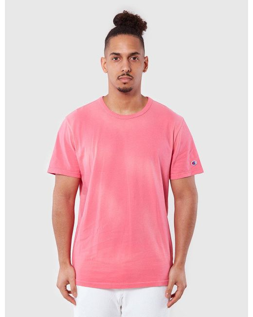 Champion   Pink Reverse Weave T-shirt for Men   Lyst
