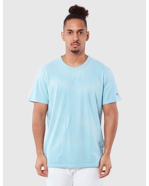 Champion   Blue Reverse Weave T-shirt for Men   Lyst
