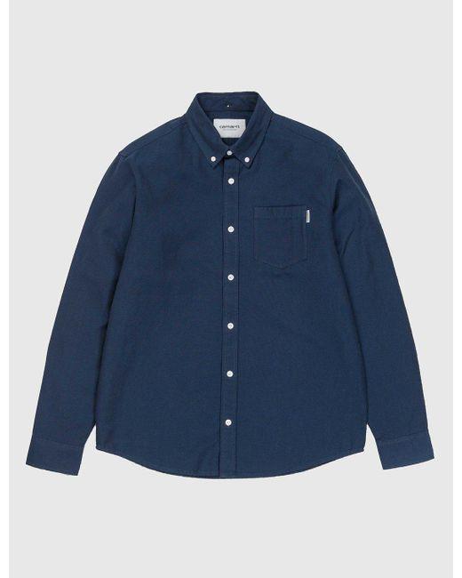Carhartt | Blue Dalton Shirt for Men | Lyst