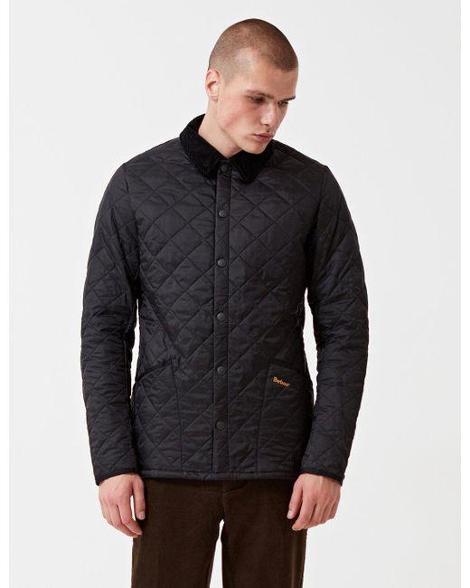 Barbour Heritage Liddesdale Quilted Jacket in Black for Men | Lyst : barbour heritage liddesdale quilted jacket - Adamdwight.com