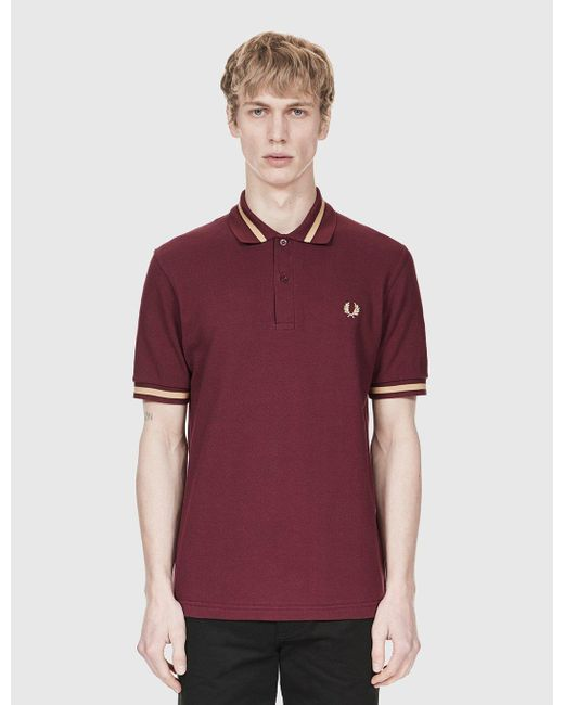 Fred Perry | Purple Single Tipped Polo Shirt for Men | Lyst