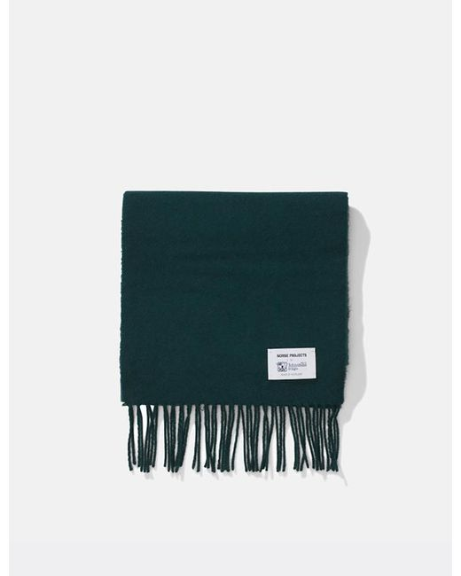 Norse Projects Green X Johnstons Lambswool Scarf for men