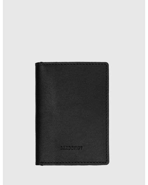 Sandqvist - Black Dow Slim Bi-fold Wallet (leather) for Men - Lyst